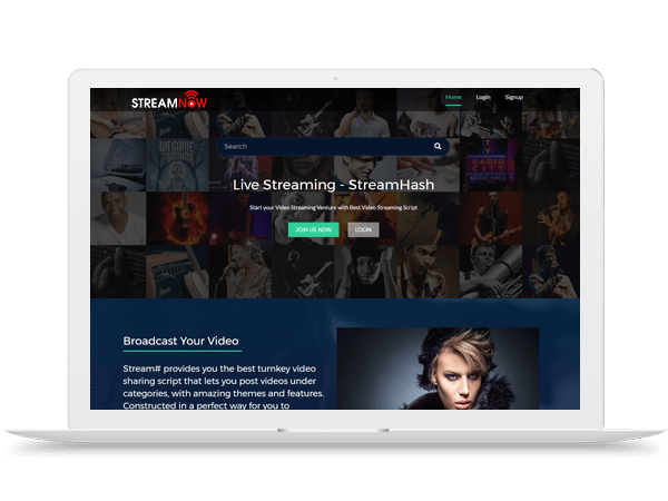 StreamNow Ustream Clone